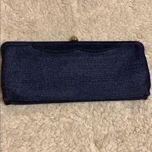 Blue denim color vintage clutch.